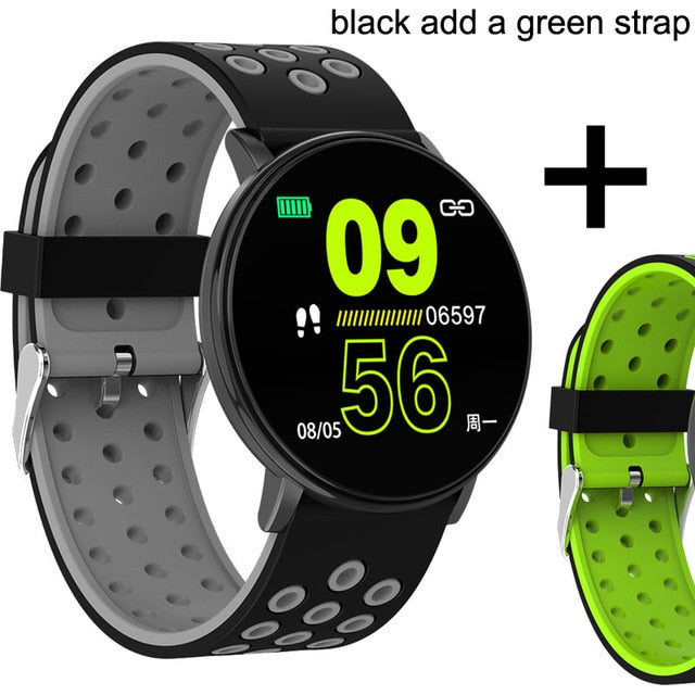 Waterproof Blood Pressure Heart Rate Monitor Bluetooth Smartwatch For Android IOS