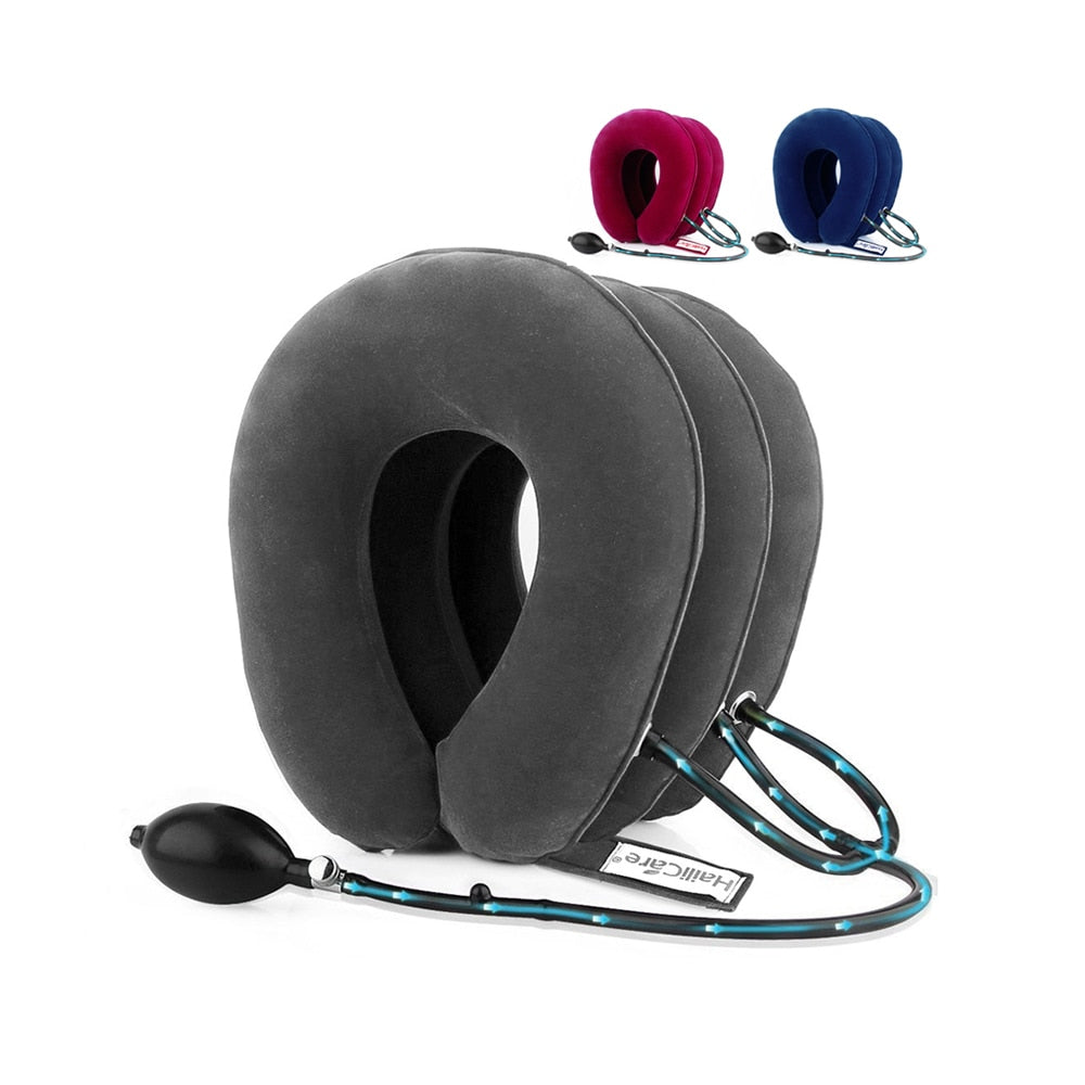 Inflatable Air Neck Traction Device Soft Neck Cervical Collar Pillow for Neck Pain Stress Relief