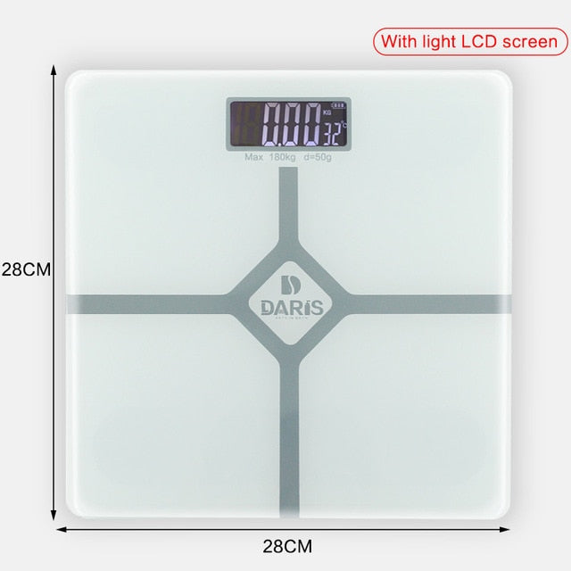Smart Digital Weight Health Balance Scale Tempered Glass with LCD Screen