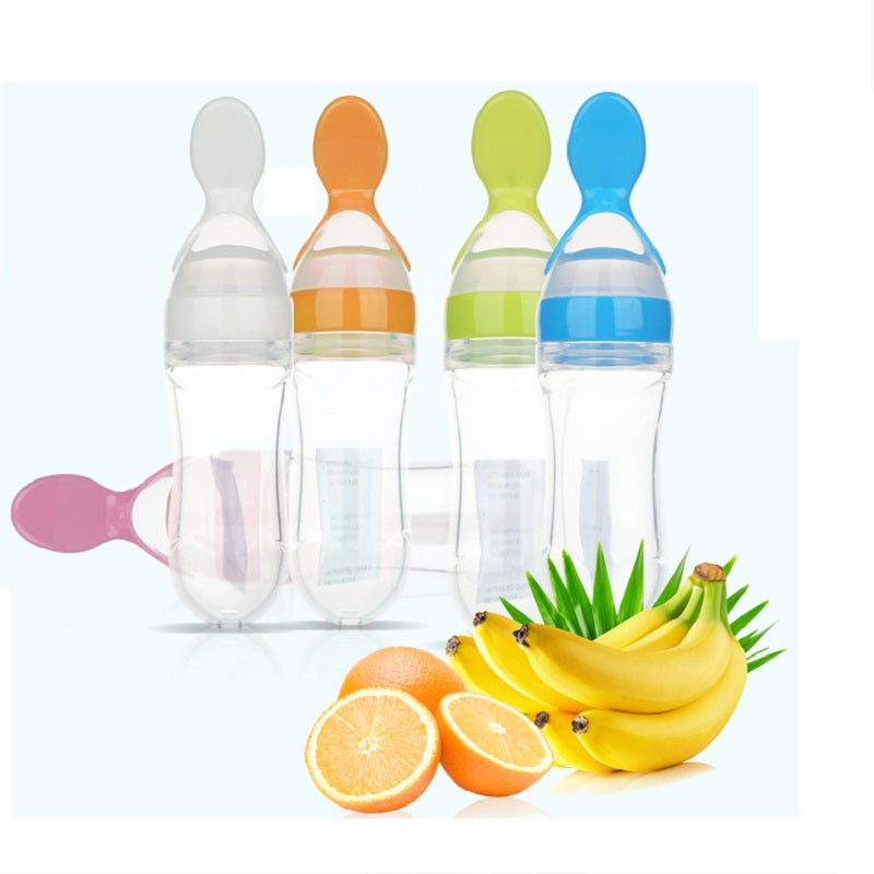 90ML Toddler Food Feeder Spoon Feeding Bottle