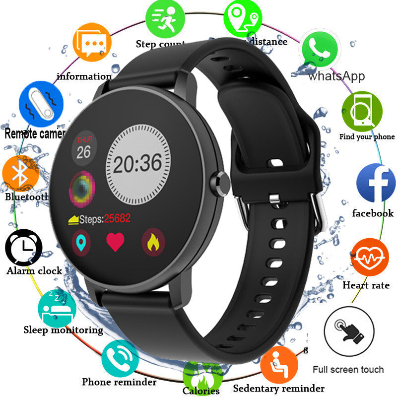 Full Touch System Blood Pressure Heart Rate Monitoring Smart Watch For Android IOS