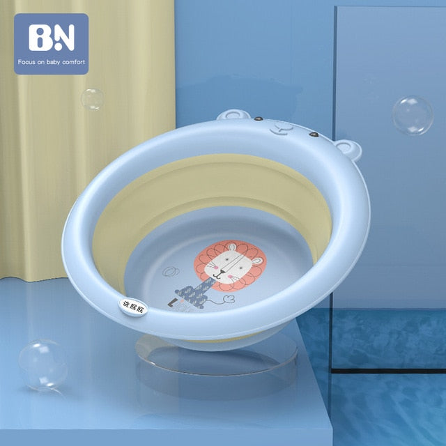 Foldable & Portable Silicone Collapsible Baby Bath Tub