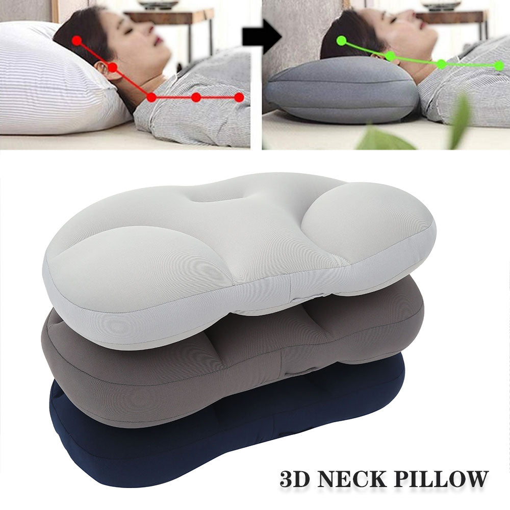 Portable 3D Washable Body Neck Massage Travel Pillow