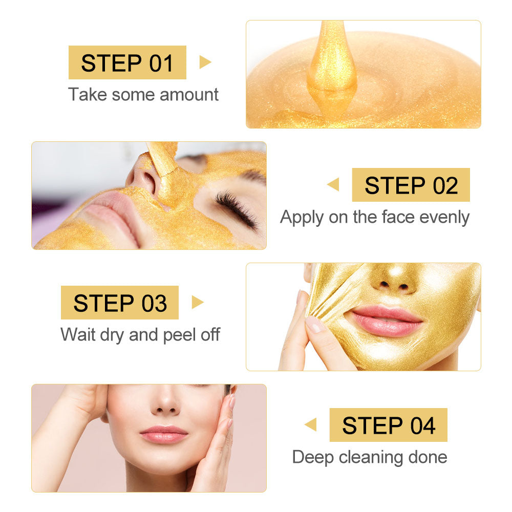 Anti Aging 24K Gold Collagen Peel Off Facial Mask
