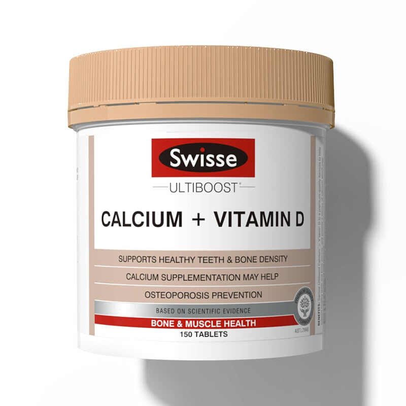 Calcium + Vitamin D Tablets Support Healthy Bones Teeth Joints & Muscles Prevention Treatment of Osteoporosis