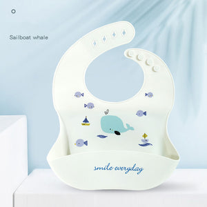Waterproof Food Grade Silicone Feeding Baby Bibs