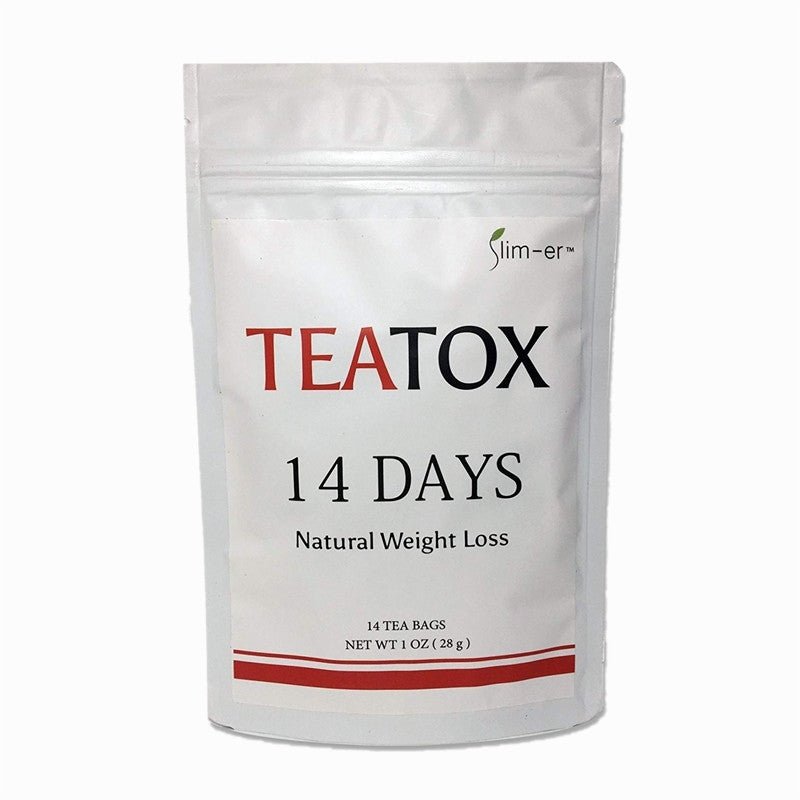 100% Pure Natural Fat Burning Weight Losing 14 Days Slimming Tea Bags for Men and Women