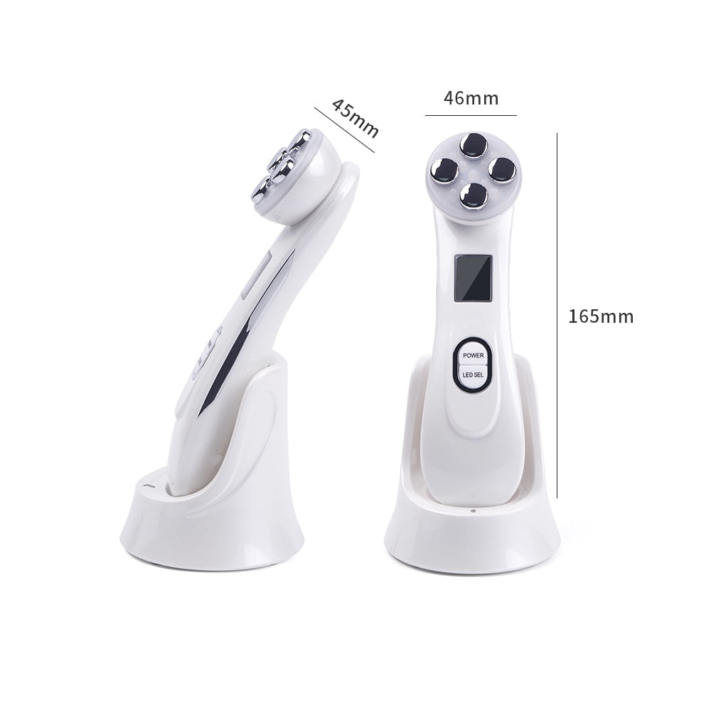 Electroporation RF Radio Frequency LED Photon Face Lifting Tighten Wrinkle Removal Face Massager