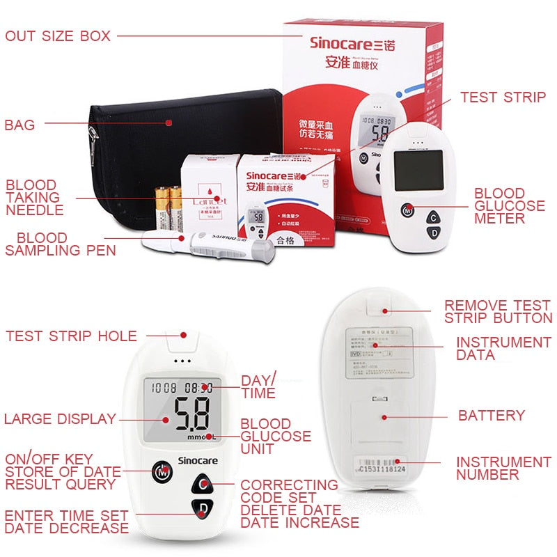 Glucometer Blood Glucose Monitoring System