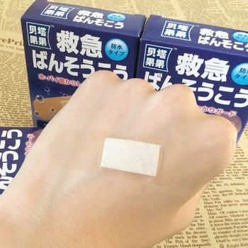 50PCs Camping Survival Translucent Waterproof  Breathable Band Aid