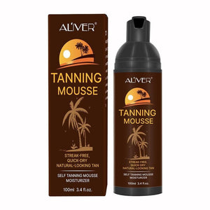 100ml Tanning Mousse Medium Block Nourishing Skin Makeup Bronzer Care