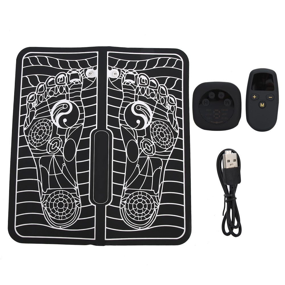 Unisex EMS Pulse Foot Massage Pad Muscle Stimulator for Fatigue Relief Physiotherapy