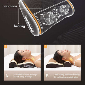 Multi Relaxation Infrared Heating Electric Massage Pillow for Neck Shoulder Back Head Body