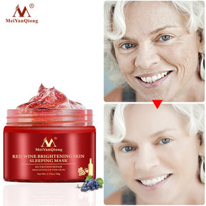 30g Anti-aging Red Wine Facial Sleeping Mask