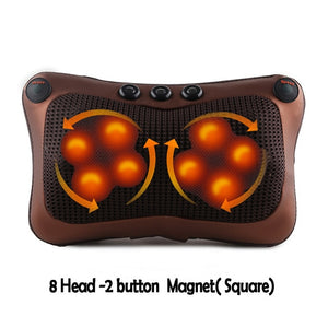 Vibrator Electric Shoulder Back Heating Kneading Infrared Therapy Shiatsu Neck Massage Pillow