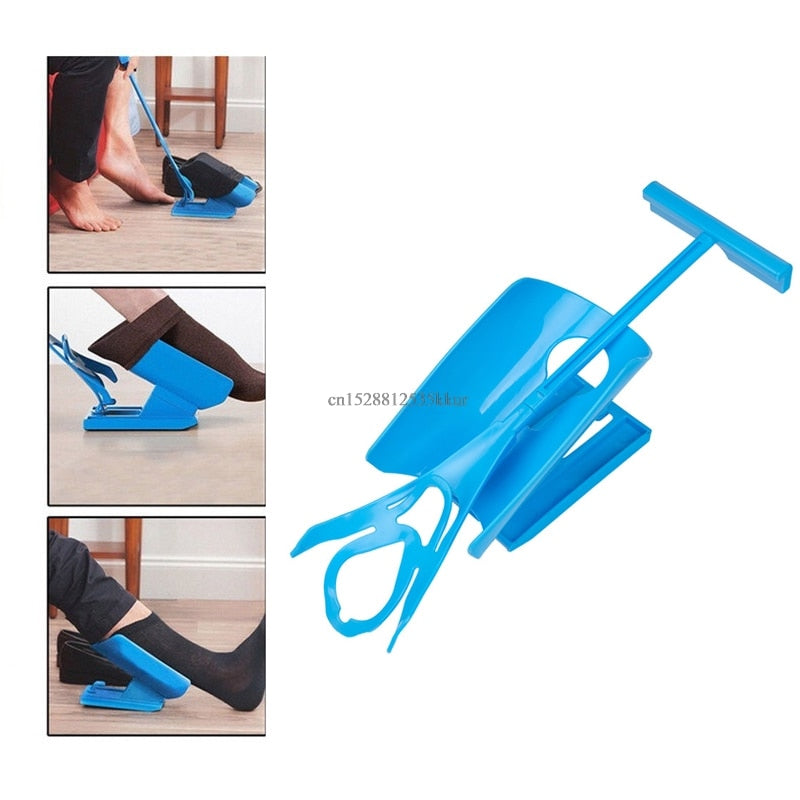 Easy On/Off Sock Aid Kit Device No Bending Stretching Straining