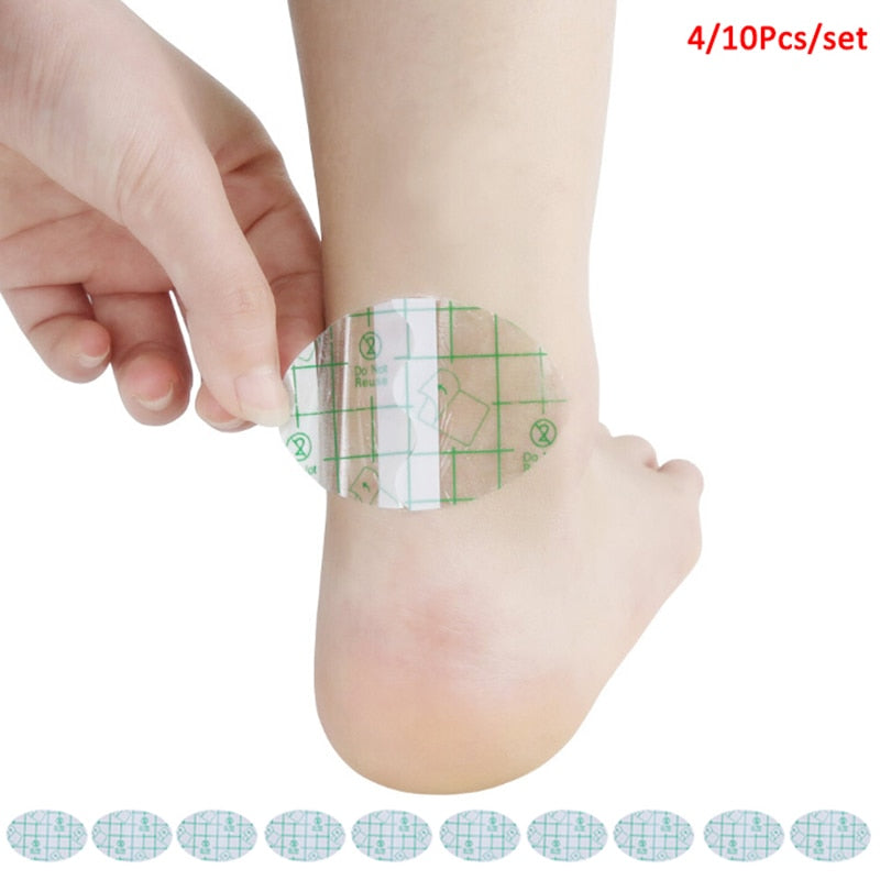 4/10Pcs Blister Plaster Adhesive Hydrocolloid Gel Blister Plaster Anti-wearing Heel Sticker Foot Care Tools