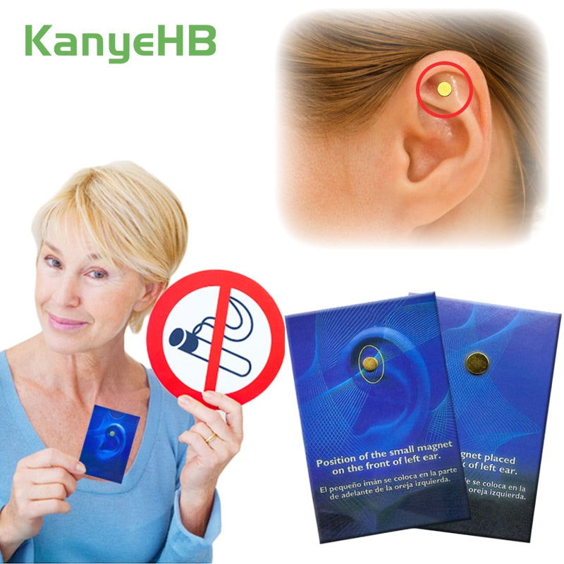 4pcs Magnet Auricular Quit Smoking Acupressure Patch