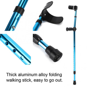 Adjustable Portable Folding Walking Stick Telescopic Aluminum Alloy Crutches for Seniors Disabled Elderly