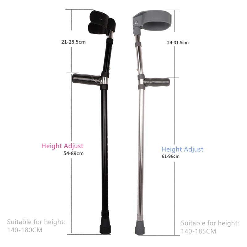 Light Weight Aluminum Alloy Forearm Crutches