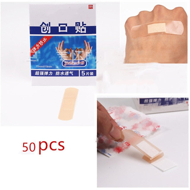 Simple Transparent Waterproof Breathable Adhesive Wound Medical Bandage