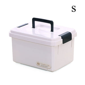 Space Disassembly Design Multi-Layered First Aid Plastic Storage Box with Handle