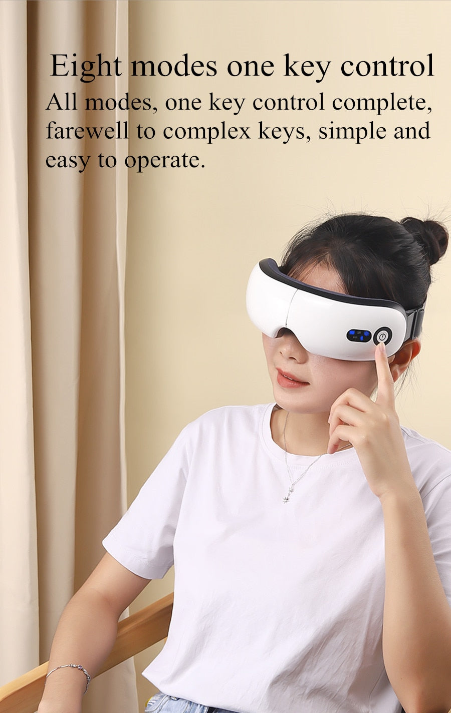 High Frequency Vibration Electric Smart Bluetooth Eye Massager
