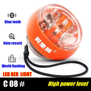 LED Super Gyroscope Powerball Self-starting Gyro Arm Force Trainer Muscle Relax Gym Fitness Equipment