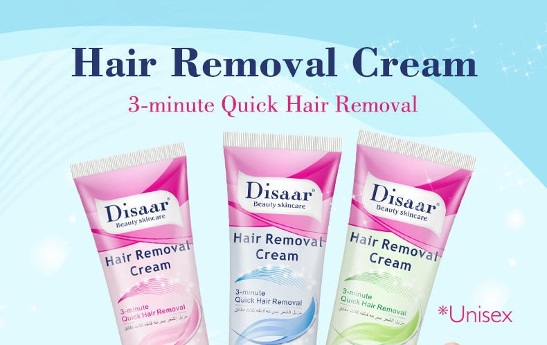 3-Minute Quick Painless Hair Removal Cream for Bikini Area Legs & Face