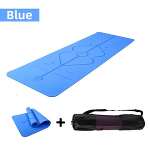 Non-Slip Acupressure Yoga Mat with Position Line For Gym Exercise
