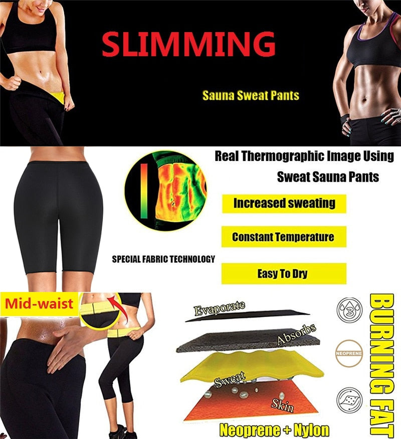 Waist Trainer Gym Short Capris Sports Body Shaper Slim Tummy Control Leggings