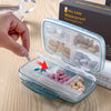 Large Capacity 8 Grids Medicine Storage Box