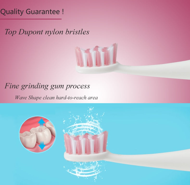 4pcs/pack Soft Bristles Best Electric Toothbrush Replaceable Head