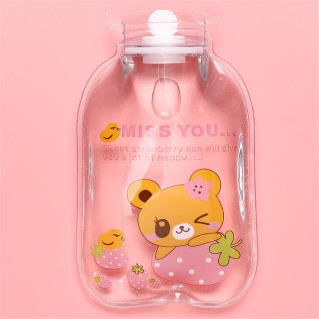 Cute Transparent Mini Explosion-proof Portable Hot Water Bag