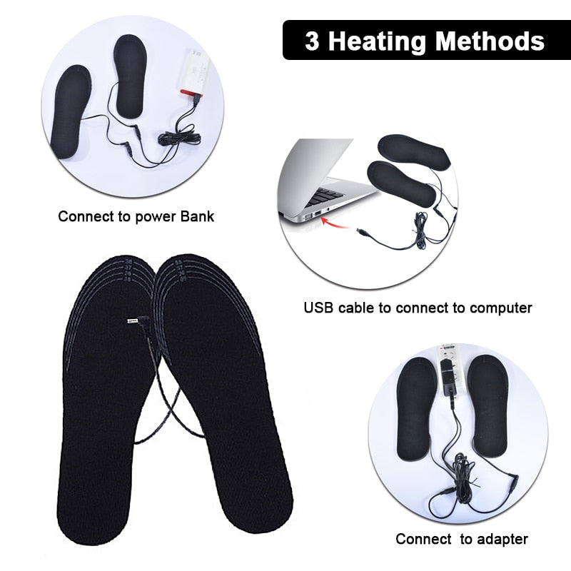 USB Electric Heated Winter Warm Insoles for Both Men & Women