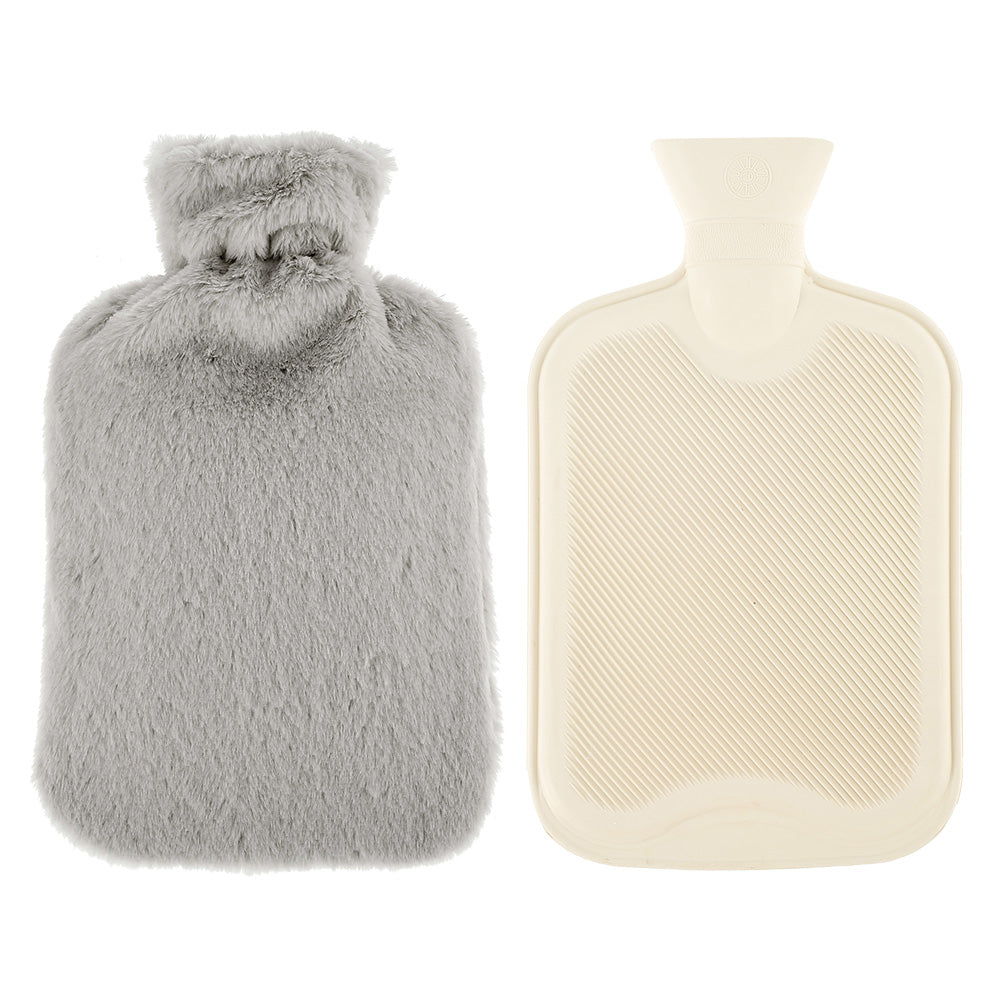 Pure Natural Rubber Fluffy Plush Faux Fur Hot Water Bag