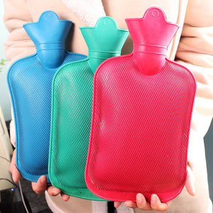Portable 1000/1750/2000ML Solid Color Thick Rubber Hot Water Bag