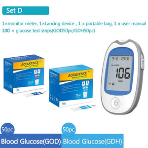 4 in 1 Multifunction Blood Ketone, Uric Acid & Blood Glucose Monitor with Test Strips & Lancets