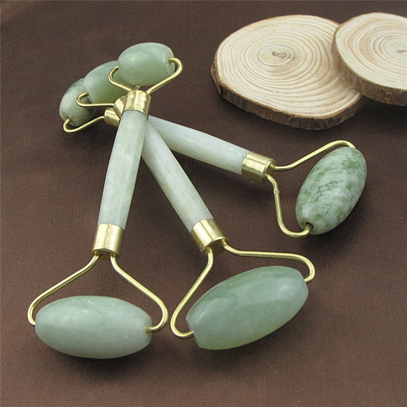 Portable Natural Jade Anti Wrinkle Facial Massage Roller