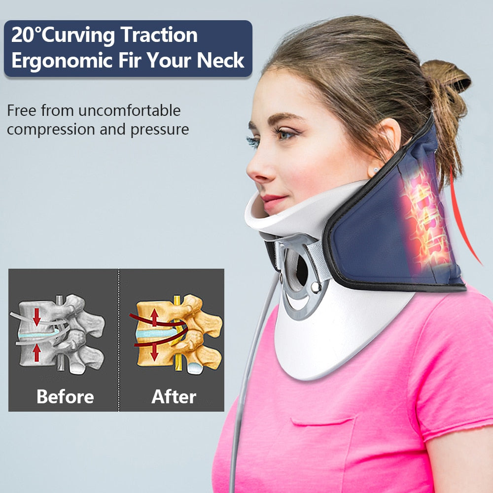 Inflatable Cervical Spine Massager Pain Relief Neck Traction Device