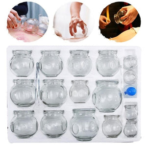 32 Vacuum Can Cups for Apparatus Therapy Body Relax
