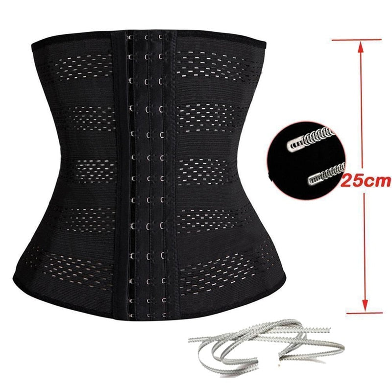 Waist Trainer Latex Cincher Girdles Body Shaper Corset