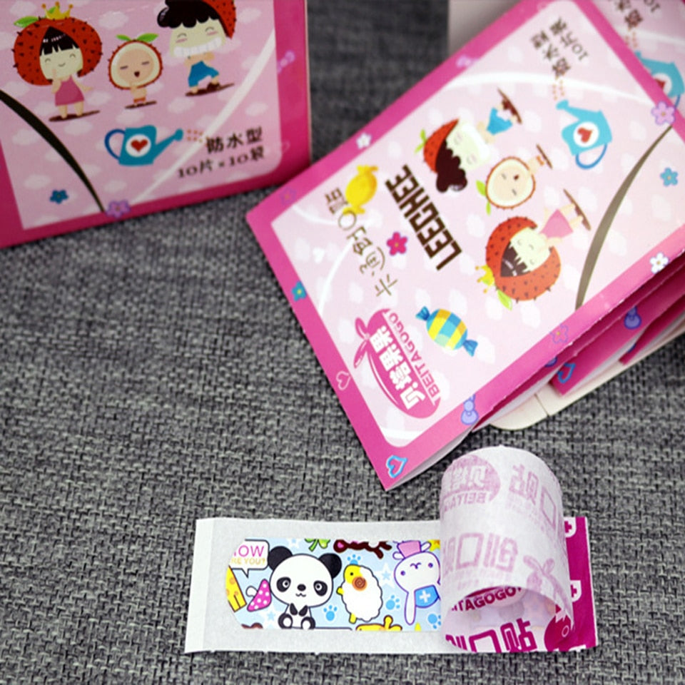 100PCs Waterproof Breathable Cute Cartoon Band Aid