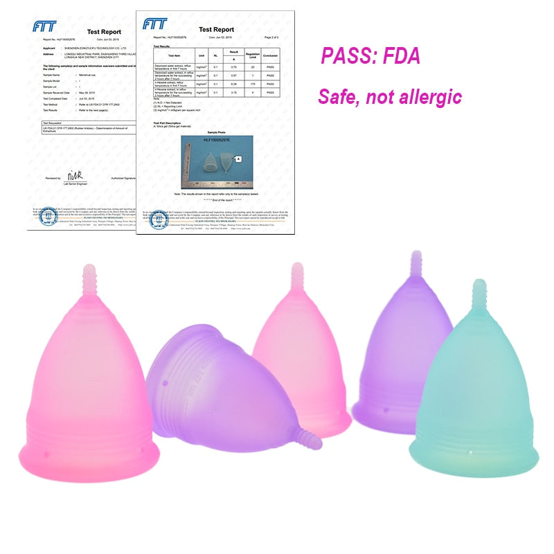 20pcs/lot Reusable Silicone Menstrual Cup Feminine Hygiene Product