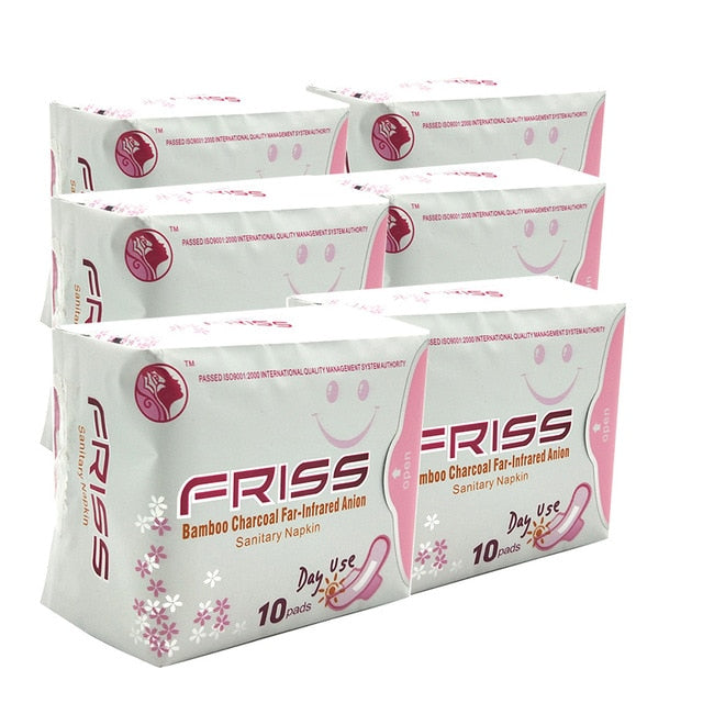 6packs Menstrual Cotton Sanitary Pads Feminine Hygiene Product