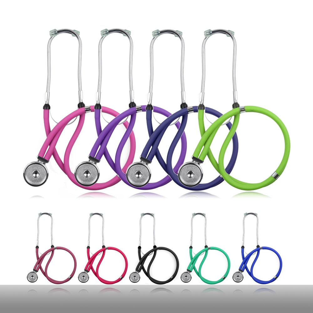 Professional Medical Dual Head Sprague Rappaport Type Stethoscope with Accessories for Doctor Nurse
