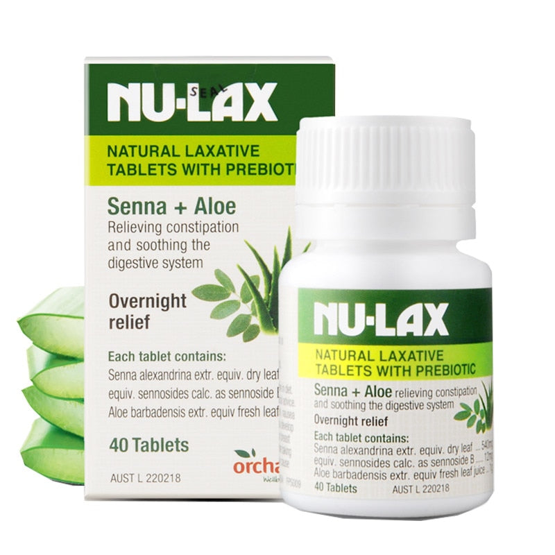Natural Laxative Tablets with Prebiotic Constipation Treatment Overnight Relief Stimulating