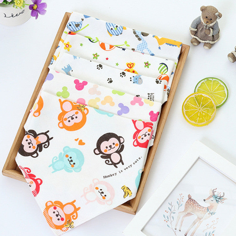 Fashionable Colorful Cotton Burp Cloth Baby Bibs
