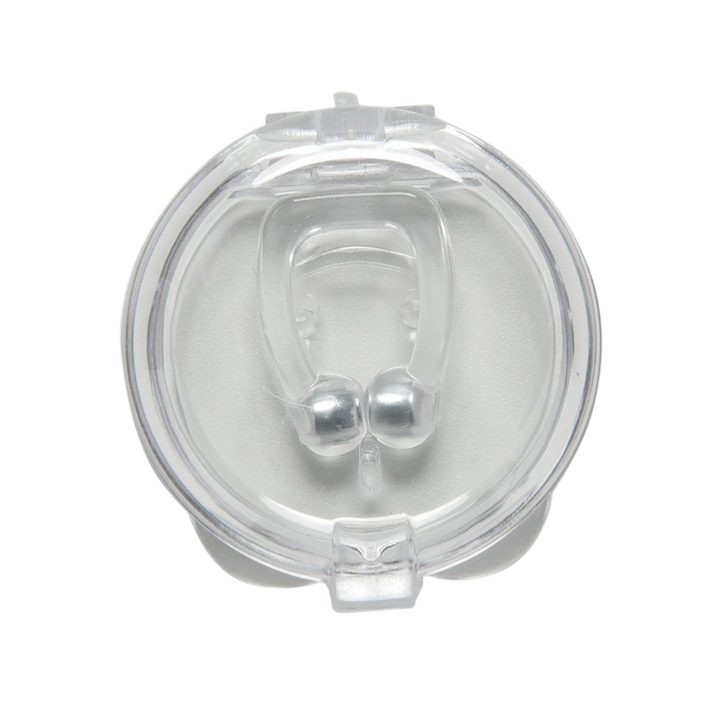Magnetic Anti Snore Silicone Nose Clip Sleeping Aid Device