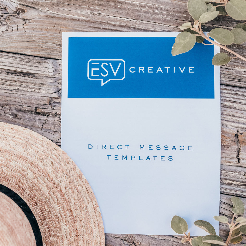 Instagram Direct Message Template [INSTANT DOWNLOAD] - ESV Creative